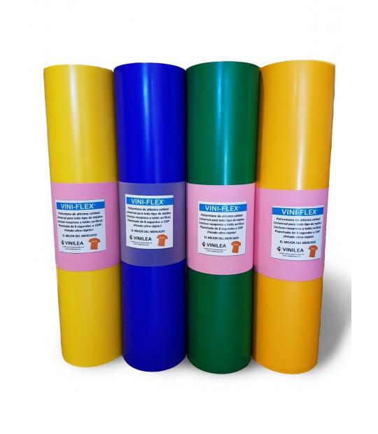 Vinilo Textil Flex Premium Poliuretano Adhesivado Normal, Todo Tipo de Tejidos VINILEA (POR BOBINA)